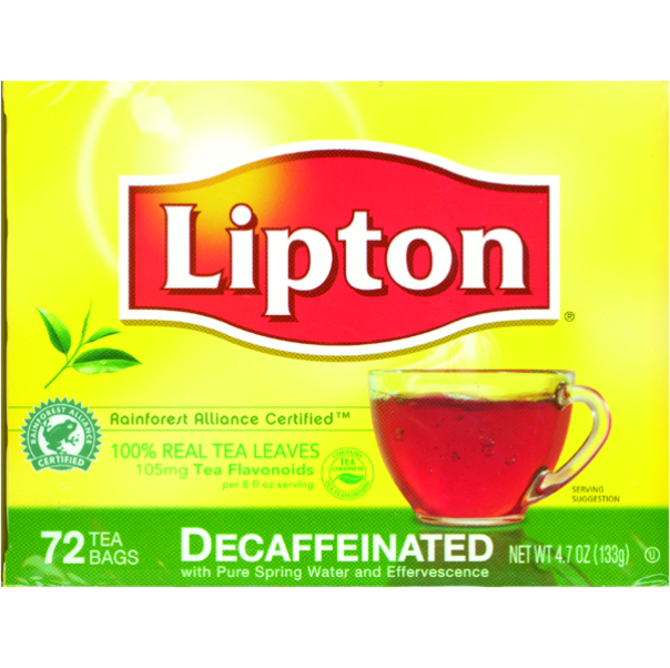 LIPTON DECAF 72 CT B1502