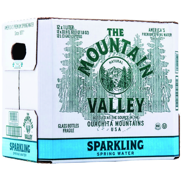 MV SPARKLING GLASS 1L 12 PK A0308
